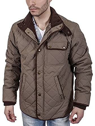 J. Whistler Mens Marco Diamond Quilted Winter Coat