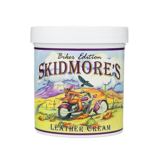 Skidmore's Biker Edition Leather Cream | All Natural Water Repellent Formula Cleans, Conditions, and Protects Your Motorcycle | Made in USA ()
