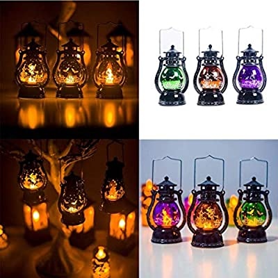2019 New Halloween Light for Child Decoration Lanterns,Retro Lantern,Waterproof Outdoor Hanging Lights,LED Lantern Hanging Candlelight Light Party for Garden Patio and Yard,Party, Bar