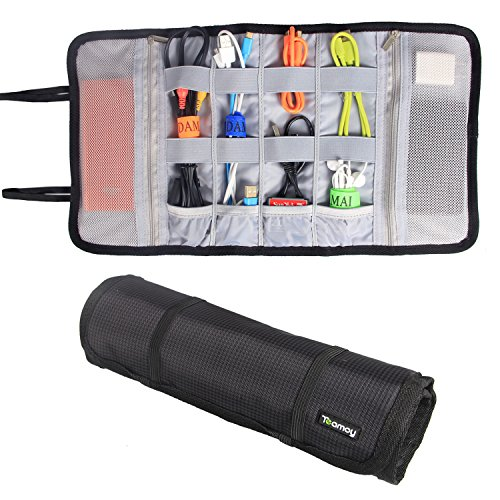 Teamoy Nylon Organizer Earphones Holders