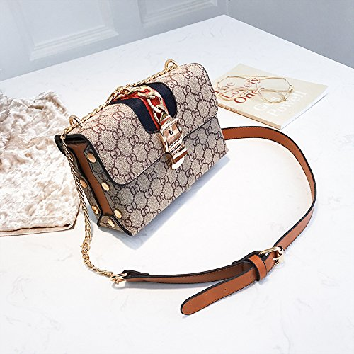 Brown stampata borsa borsa femminile diagonale a tracolla a mano di moda piccola Borsa 1q704wnx