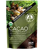 Cacao Powder Organic - Unsweetened Premium Grade Superfood (Raw) - USDA & Vegan Certified - 453.59g (16oz) - Perfect for Breakfast, Hot Chocolate, Baking & Ice Cream.