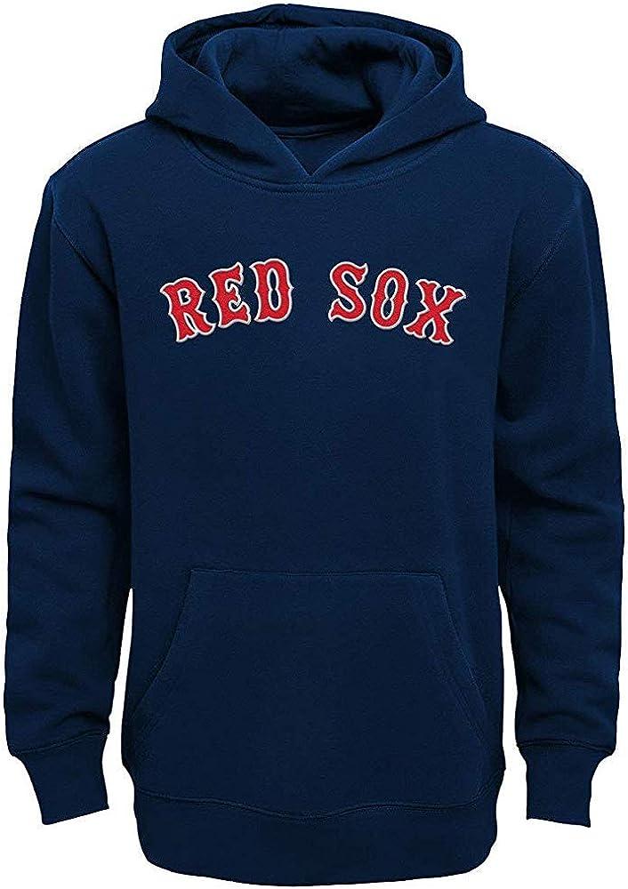 MLB Team Apparel Boys Youth 8-20 Official Team Wordmark Logo Pullover Hoodie Sweatshirt