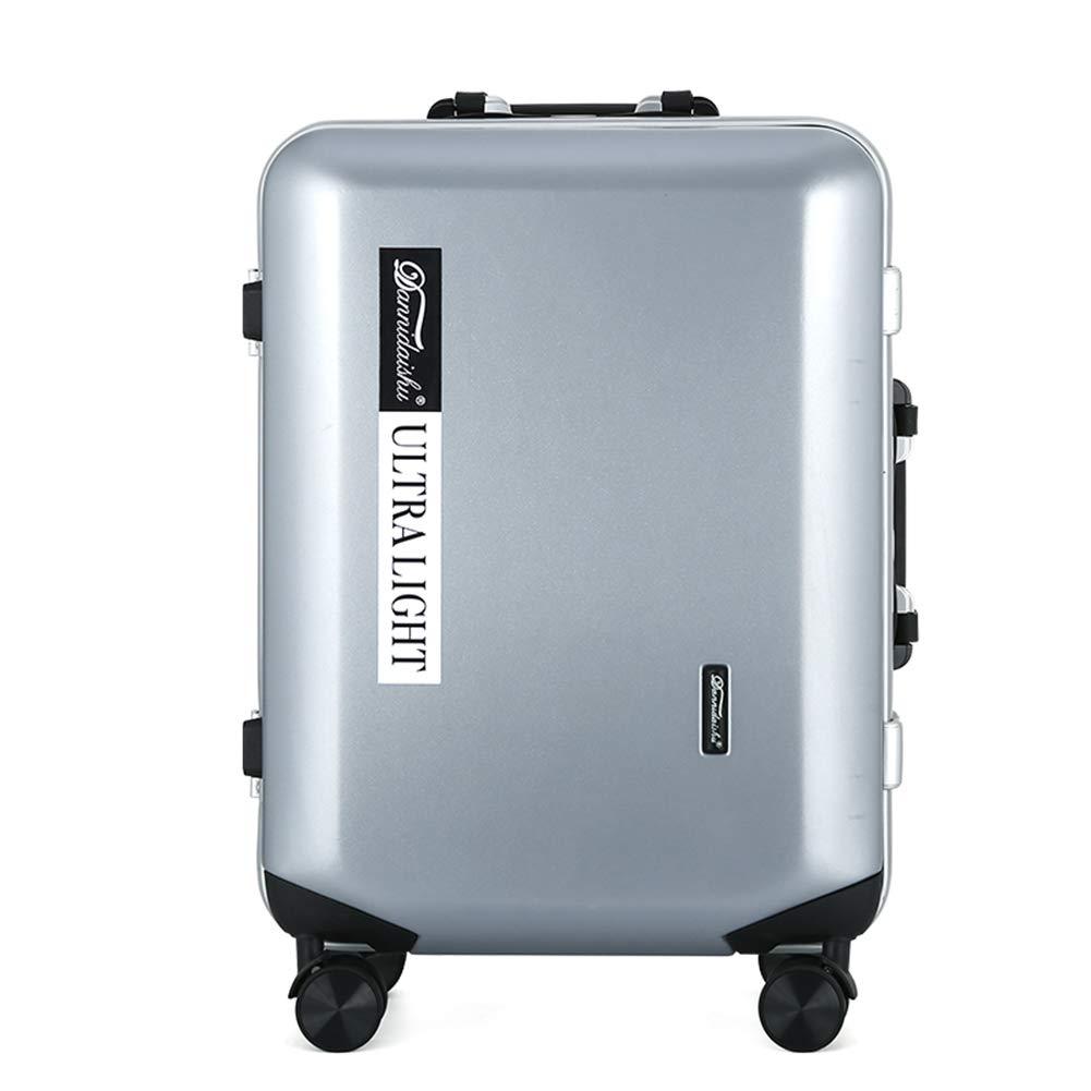 方法旅行ABS堅い貝はTSAで造られた4つの車輪が付いている小屋手の荷物のスーツケースで運びます、ほとんどの航空会社のために承認された3ディジットの組合せロックを承認しました。 20IN Silver B07MR47HGR
