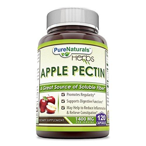 - Pure Naturals Apple Pectin Capsules, 1400 mg per Serving of 2 Capsules- 120 Capsules Per Bottle