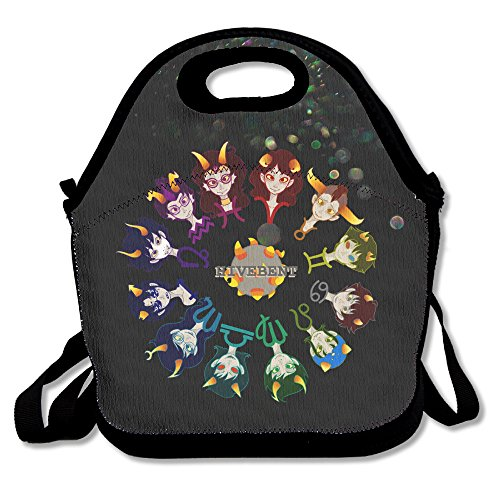 BigLays Homestuck Hivebent Lunch Tote Bag Lunch Box Neoprene Tote For Kids And Adults For Travel And Picnic School