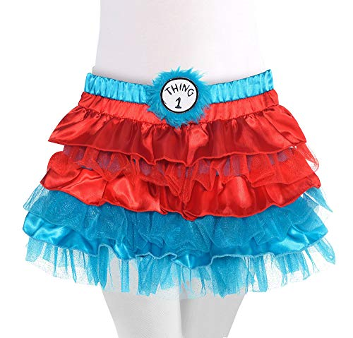 Costumes USA Dr. Seuss Thing 1 & Thing 2 Tutu for Girls, Halloween Costume Accessories, Small, Includes 2 -