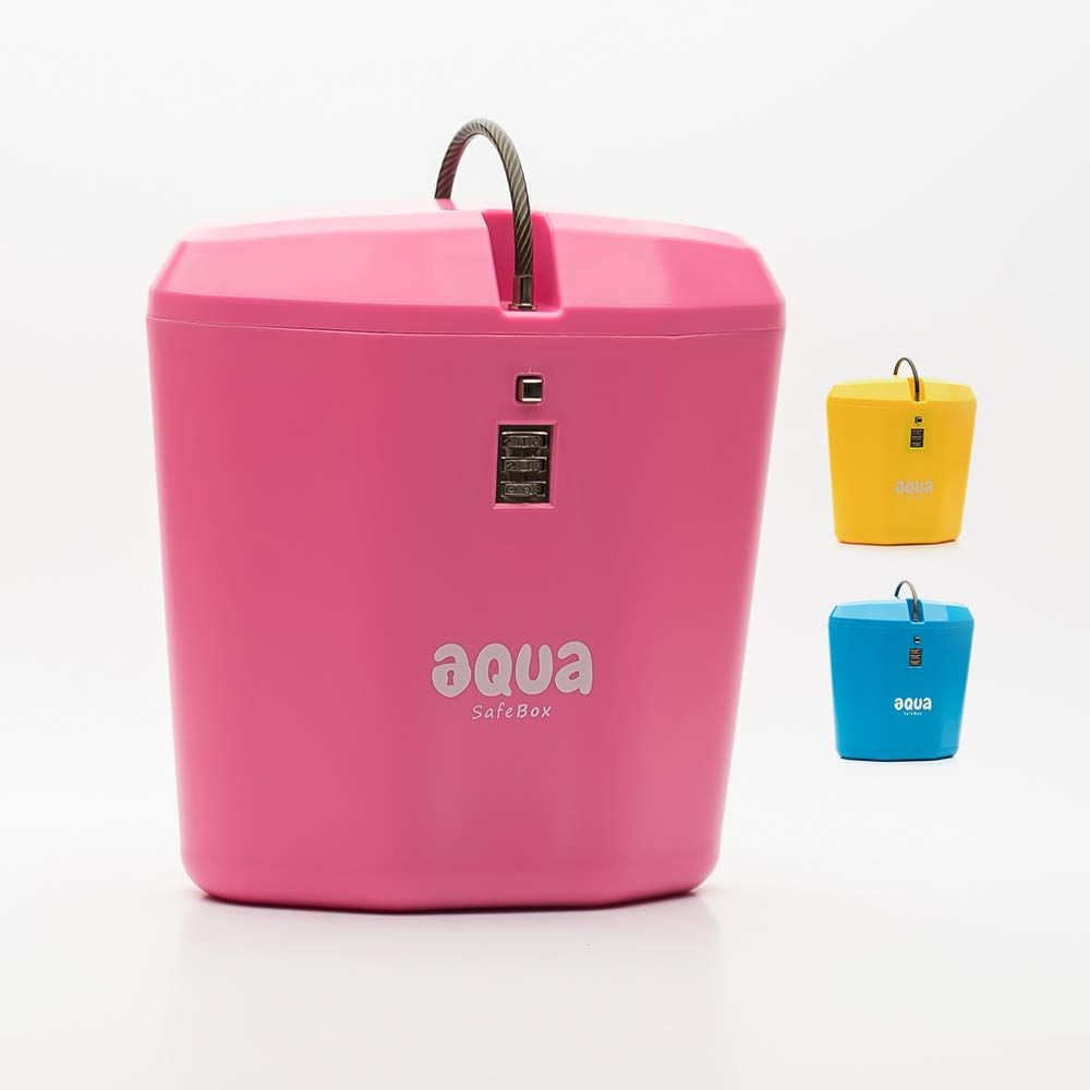 Aqua Safe Box Portable Indoor/Outdoor Lock Box with Combination Access (Pink) by Aqua Safe Box