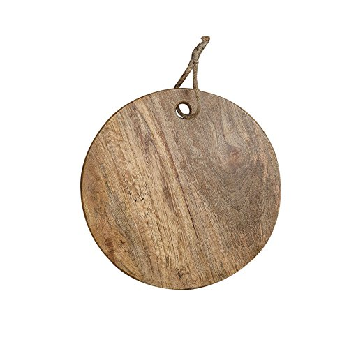(Rusticity Wooden Chopping/Cutting Board/Serving Tray - Round | Handmade | (13 in))