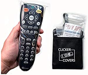 Protection from Germs, Viruses and Bacteria on Home and Hotel TV Remote Controls - Clicker Covers Disposable Clear Bags with Self-Adhesive Closure