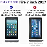 [Pack of 2] Gzerma Fire 7 Screen Protector 2017 Release, Premium High Definition Clear, Shatter Proof, Easy Installation Front Protective Cover Film for All-New Fire7 7.0 Inch Tablet, 7th Gen