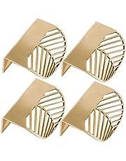 4 stks keukenkast deuren handgrepen - slaapkamer lade trekt blad vorm messing gouden kast trekt meubels handgrepen keuken deur handvat koperen lade Pull knoppen
