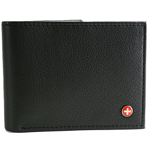 Alpine Swiss Men's Multi-Card Compact Center Flip Bifold - Alpine Wallet