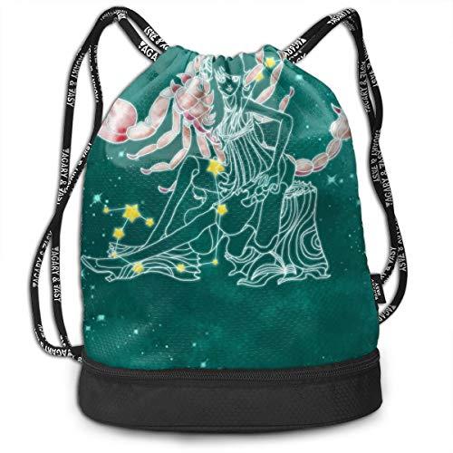 Acute Scorpio Fashion Drawstring Bags Bundle Backpack Beach String Rucksack Cinch Bag Lightweight Yoga Daypack