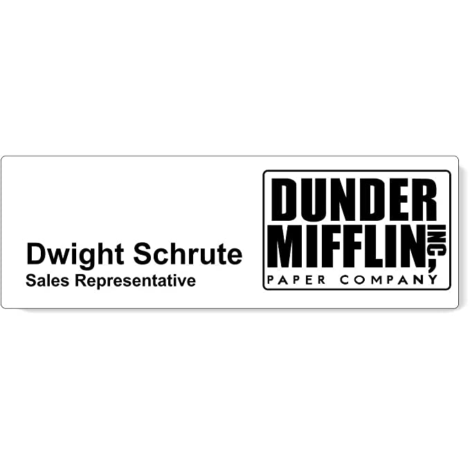 image relating to Dunder Mifflin Name Tag Printable called : Dunder Mifflin Status Tags Halloween Status Tags