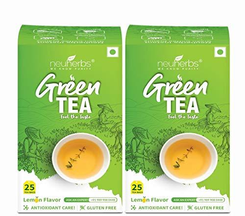 Neuherbs Green Tea Bags for Weight Loss & Immunity – 50 pcs (Lemon)