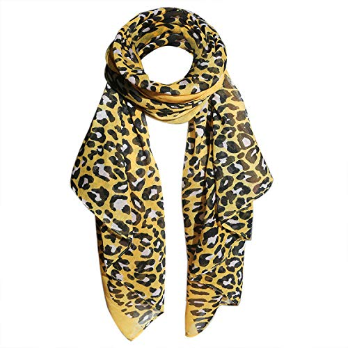 Women scarfs lightweight in fashion leopard print Long and large infinity wraps ()
