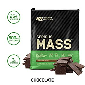 Optimum Nutrition Serious Mass, Chocolate 12 Lbs 2/Cs