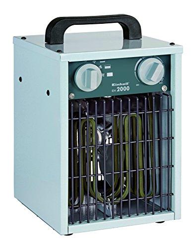Einhell Elektro Heizer EH 2000 (2000 Watt, 3 Heizstufen, Thermostat, Spritzwasserschutz, Tragegriff, robustes Gehäuse)