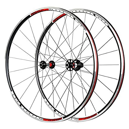 LOLTRA - Juego de Ruedas para Bicicleta Koozer RS1600 700c x23c 6 paletas 72 clics Llantas