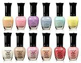 clear polish set - Kleancolor Collection - Beautiful Assorted Pastel Nail Polish 12pc Set