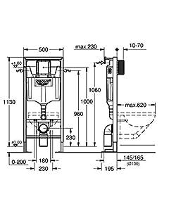 71cdecfcf98ab0 Pourquoi n est ce pas plus clair directement . GROHE – 38340001 – Bâti- Support pour WC Suspendu – Mur Porteur ou Non-Porteur – Rapid SL (Import  Allemagne) ...