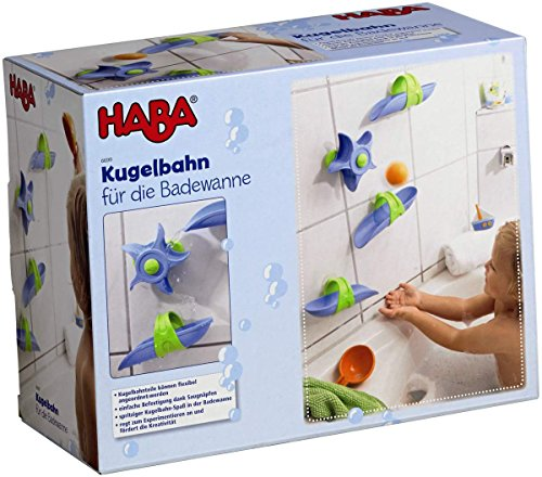 - HABA Bathtub Ball Track - 6 Piece Play Set - Fosters Experimentation & Creativity for Ages 3 and Up