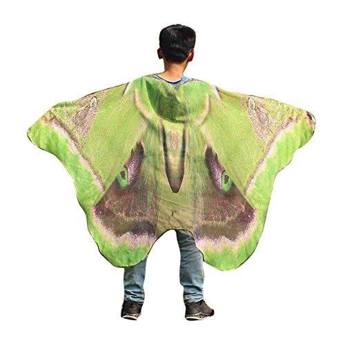 YOcheerful Child Kids Boys Girls Bohemian Butterfly Print Shawl Pashmina Costume Accessory -