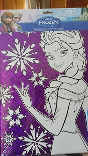 Disney Frozen Foil Coloring Sheets with Markers (Elsa and Anna) by TriCoastal