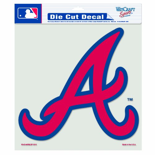 MLB Atlanta Braves 8-by-8 Inch Diecut Colored Decal