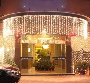 fuloon m x m led guirnaldas de luces decorativas exterior navidad fiesta