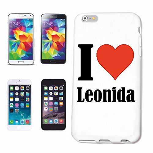 """Handyhülle iPhone 4 / 4S """"I Love Leonida"""" Hardcase Schutzhülle Handycover Smart Cover für Apple iPhone … in Weiß … Schlank und schön, das ist unser HardCase. Das Case wird mit einem Klick auf deinem S"""
