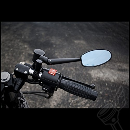 Universal 4'' Black Rotating Adjustable Long stem Aluminum Motorcycle Mirror by DCC Originals (Image #3)