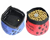 Pet Dog Cat Foldable Travel Outdoor Food Water