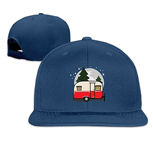 le Red Camper Casual Style Travel Navy Cap Hat Adjustable Snapback ()
