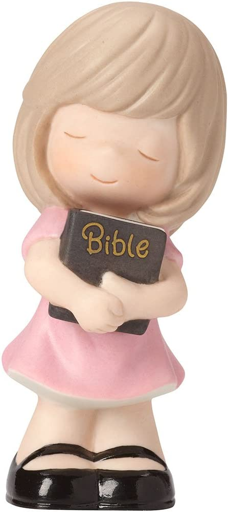 Precious Moments 162020 Let His Words Guide You, Bisque Porcelain Figurine, Girl