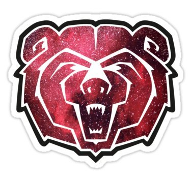 Missouri State Bears - Sticker Graphic Bumper Window Sicker Decal - State Love Sticker