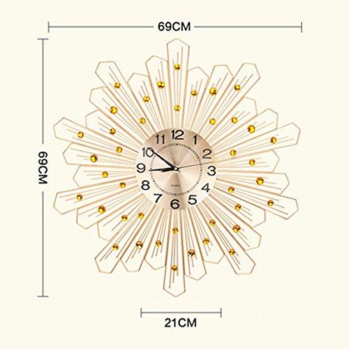 ALUP現代ミニマルファッション時計リビングルームの壁時計パーソナライズされたクリエイティブラウンドクロックサイレンス時計クォーツ時計 (色 : ゴールド) B07F24W3T3 ゴールド ゴールド