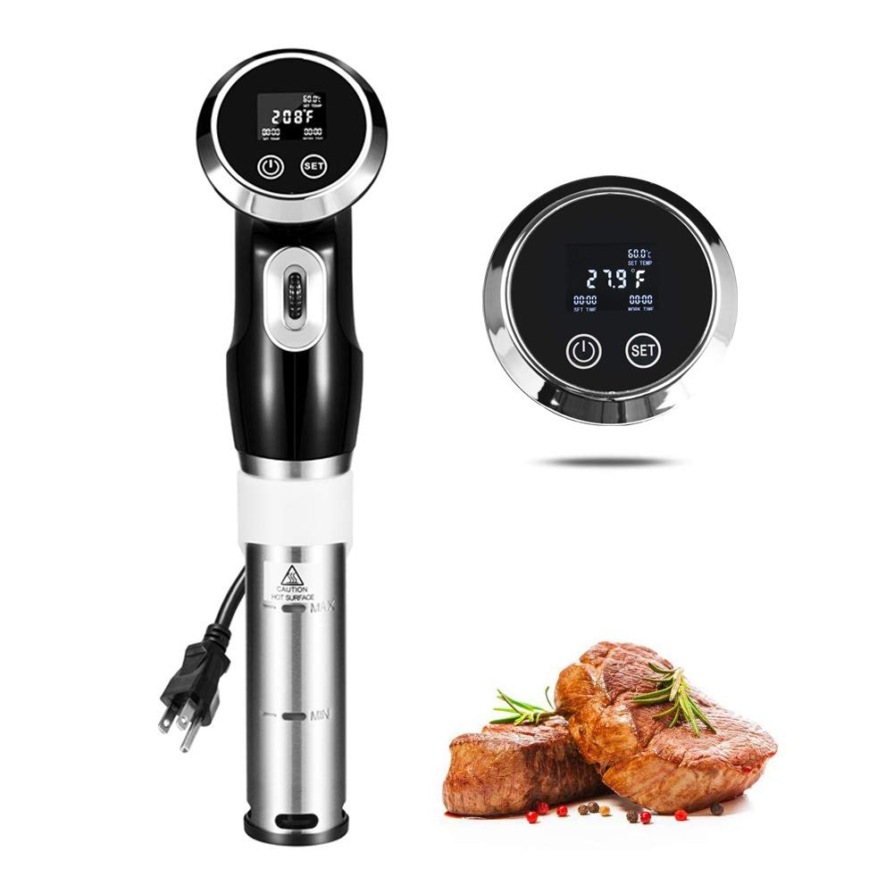Sous Vide Cooker, BPA-Free Thermal Immersion Circulator, Professional Sous Vide Machine for Accurate Temperature, 1500 Watts, Stainless Steel,Perfect for Tender Steak, Poultry, Seafood, Eggs, etc.