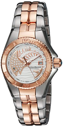Technomarine Women's 'Cruise' Swiss Quartz Stainless Steel Watch, Color:Two Tone (Model: TM-115205)