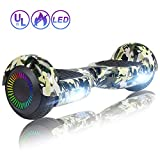 SISIGAD Hoverboard Self Balancing Scooter 6.5'' Two-Wheel Self Balancing Hoverboard with LED Lights Electric Scooter for Adult Kids Gift UL 2272 Certified Fun Edition - Woodland Camo