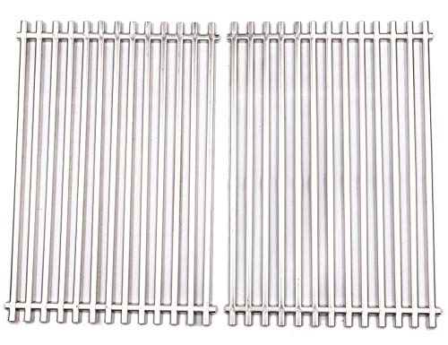 - BBQ funland GS521 Aftermarket Stainless Steel Cooking Grid/Cooking Grates Replacement for Weber 7521, Lowes Model Grills and Others, Set of 2