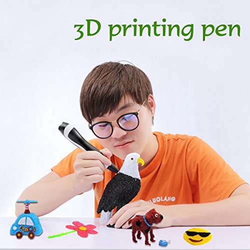 TIPEYE 3D Pen Newest Version, Finger Stalls, Paper Model and 200 Stencils Ebook for Kids, Adul,...