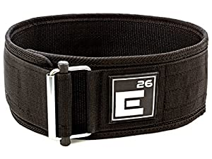 Weight Lifting Belt with Unique Self-Locking Buckle by Element 26 for Men and Women | Perfect Belt for Crossfit, Squats, Exercise, and Olympic Lifting (37