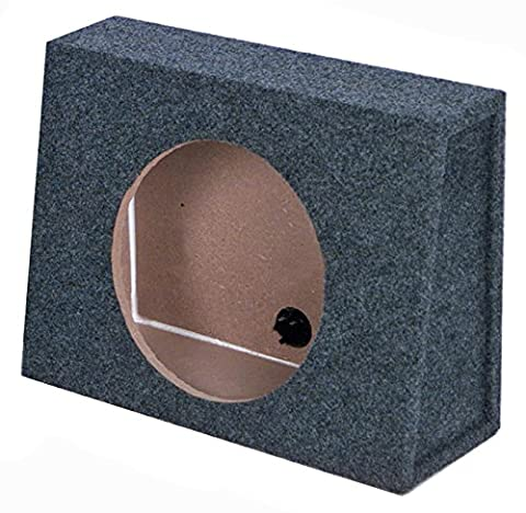 Q Power 10 Inch Slim Truck Shallow Subwoofer Box Space Enclosure (10 In Sub With Box)