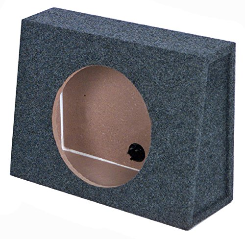 Q Power 10 Inch Single Slim Truck Shallow Sealed Subwoofer Box Sub Enclosure (10 Woofer Speaker Box)