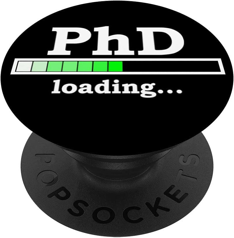 Futuro doctorado Divertido regalo de graduación de doctorado PopSockets PopGrip: Agarre intercambiable para Teléfonos y Tabletas