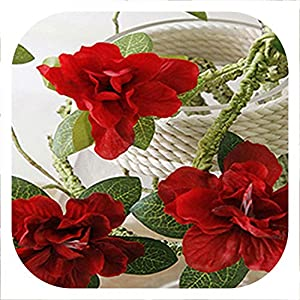 Memoirs- 1 Branch 90 cm Artificial Flower Azalea Fake Flower Decoration Foaming Branch Soft Shape Decorative Flower Rhododendron,red 19