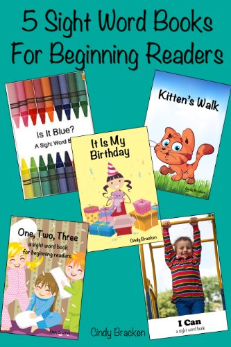 5 Beginner Sight Word Books - (A Fun Dolch Sight Word Book Set For Kids Learning to Read)