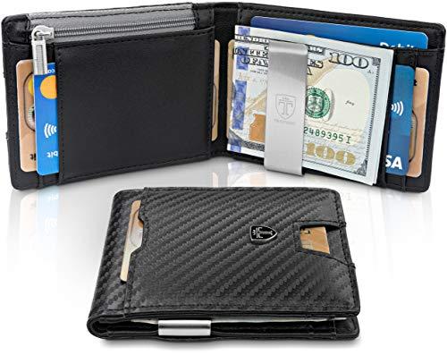 Money Clip Wallet for CoinsNEW YORK RFID Blocking Wallet | Slim Wallet | Credit Card Holder | Travel Wallet | Minimalist Mini Wallet Bifold for Men with Gift Box TRAVANDO